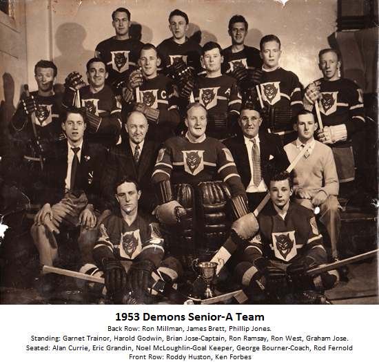 1953 Demons Senior-A Team Photo